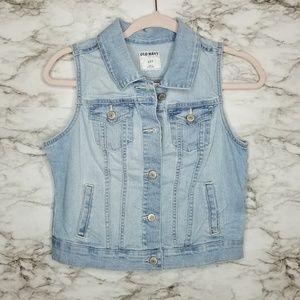 Old Navy Denim Vest Womens Small Blue Jean